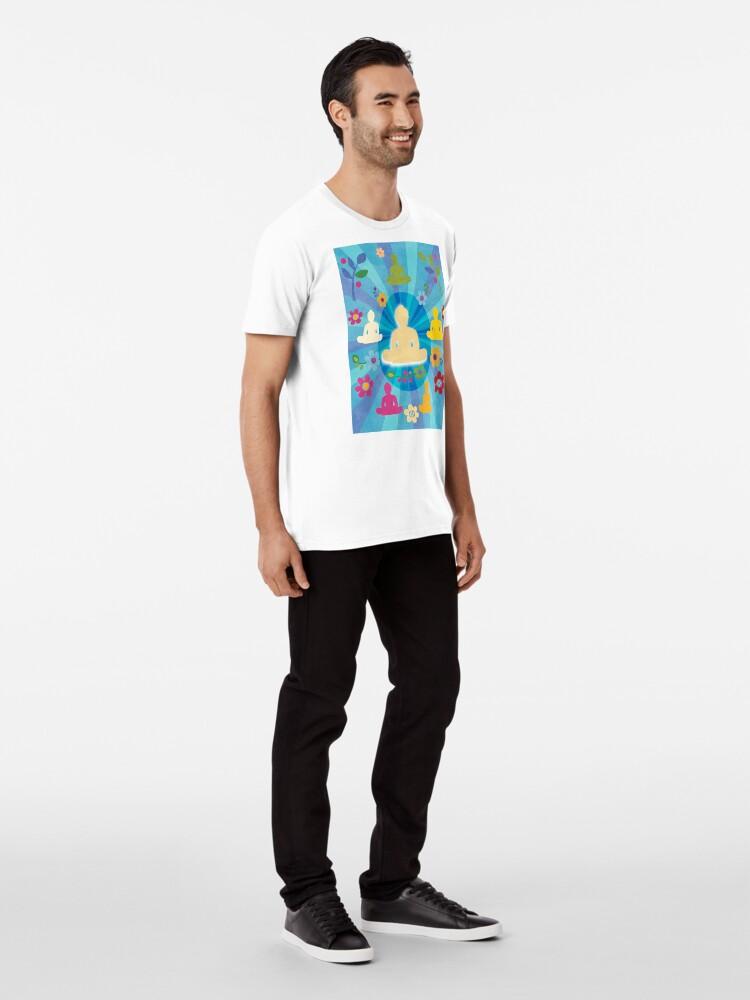 Alternate view of Radiating Buddha and Sangha Premium T-Shirt