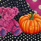Pink Bear with Pumpkin by Manter Bolen