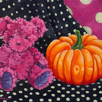 Pink Bear with Pumpkin by Manter-Bolen