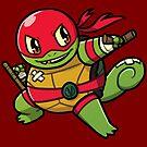 Ninja Squirtle Raphael by pomodoko