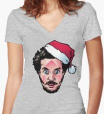 Marv-y Christmas Women's Fitted V-Neck T-Shirt