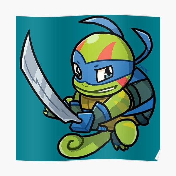 Ninja Squirtle Leonardo Poster