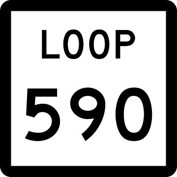 Texas Loop 590 | United States Highway Shield Sign by djakri