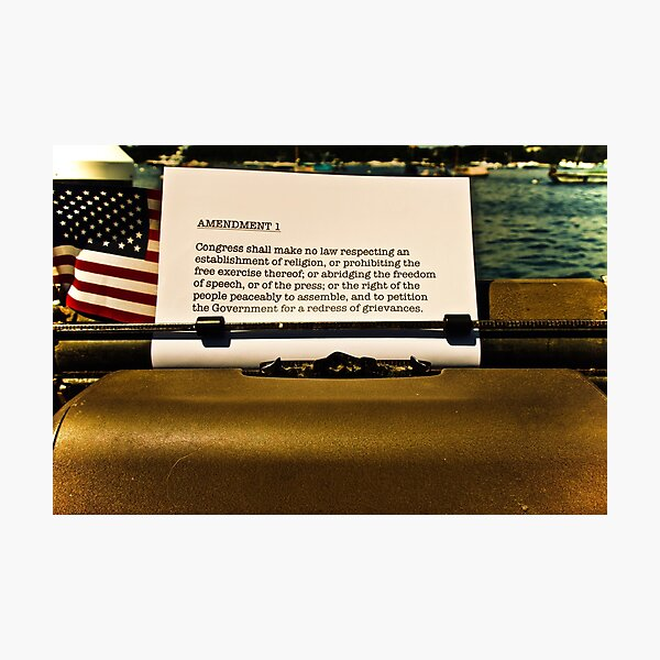First Amendment by the Sea Photographic Print