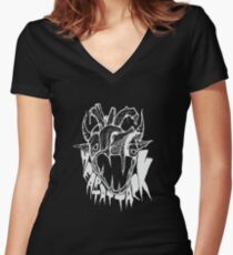 Monsterz Tea Party by LAST COW - Heart Attack T-shirt col V femme