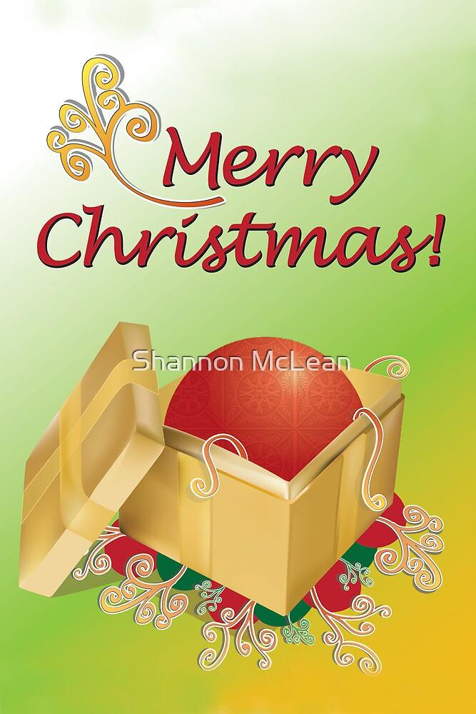 Christmas Gift Box Card by shanmclean