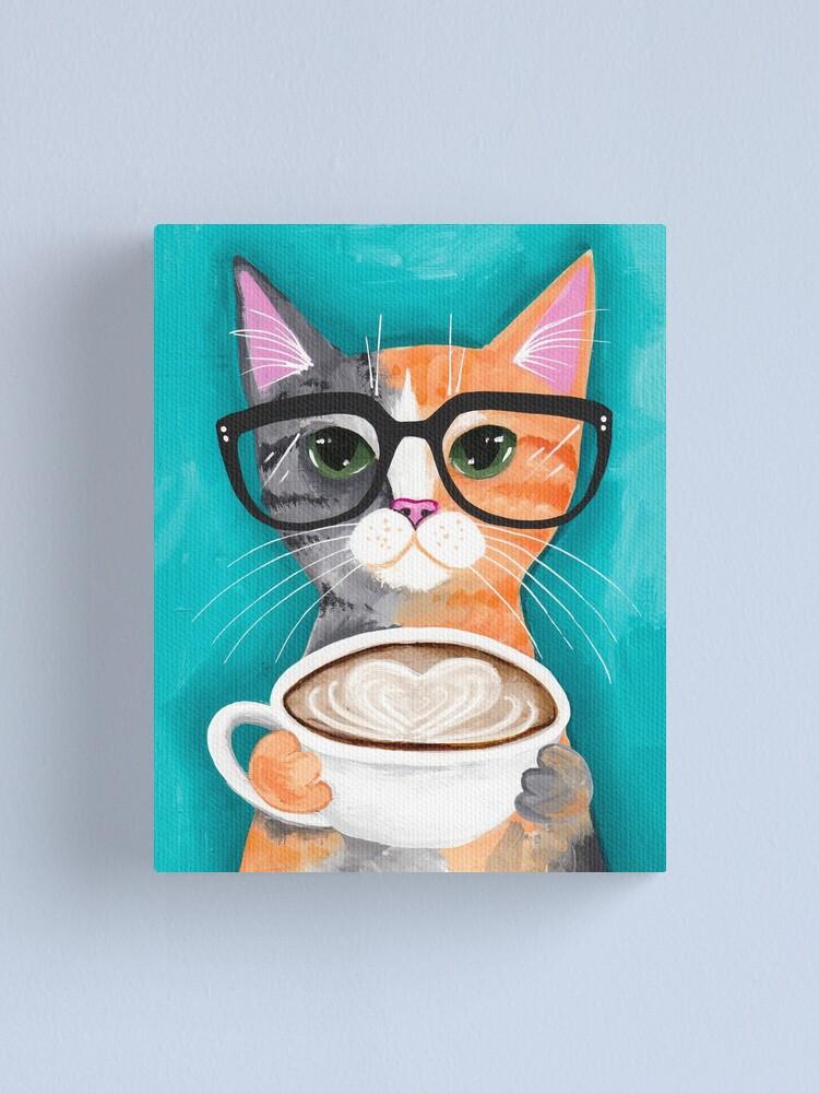 Alternate view of Kitten's Latte of Love Canvas Print