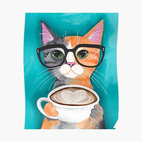 Kitten's Latte of Love Poster
