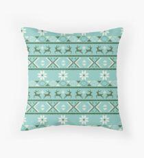 Fair Isle Mint  #Christmas Floor Pillow