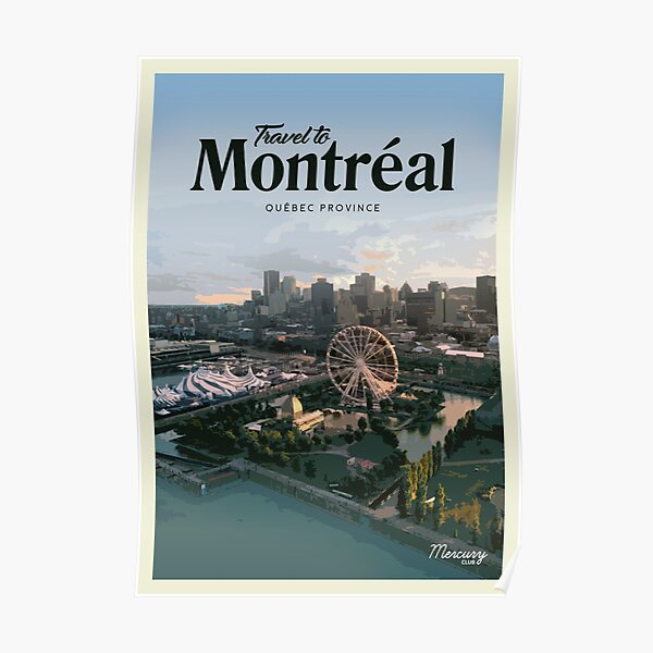 Visiter Montréal Poster