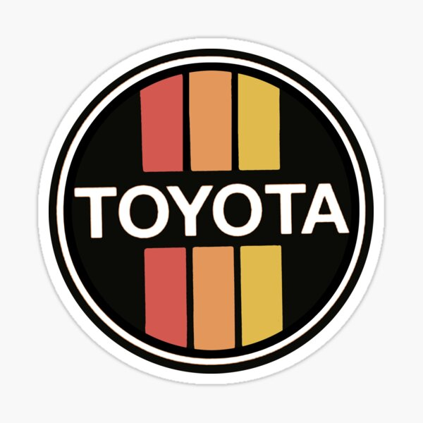 Vintage 70's TOYOTA cars Japan Sticker