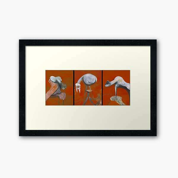 'Three Studies for Figures at the Base of a Crucifixion' Framed Art Print