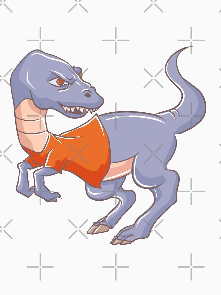 Raptor Dinosaur Wearing Sweater by rkhy