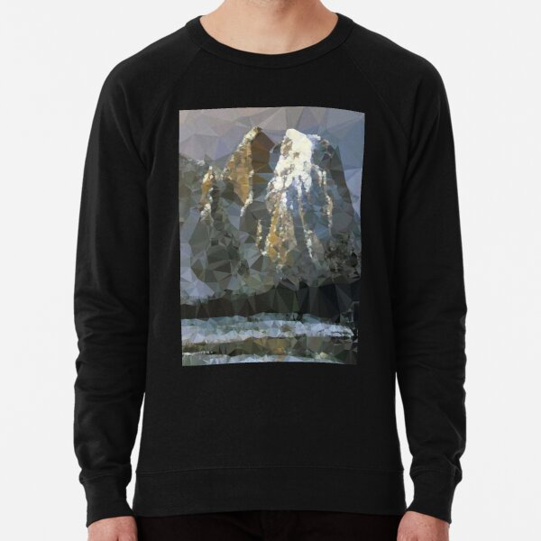 Cathedral Rocks Yosemite Low Poly Geometric Triangles Lightweight Sweatshirt