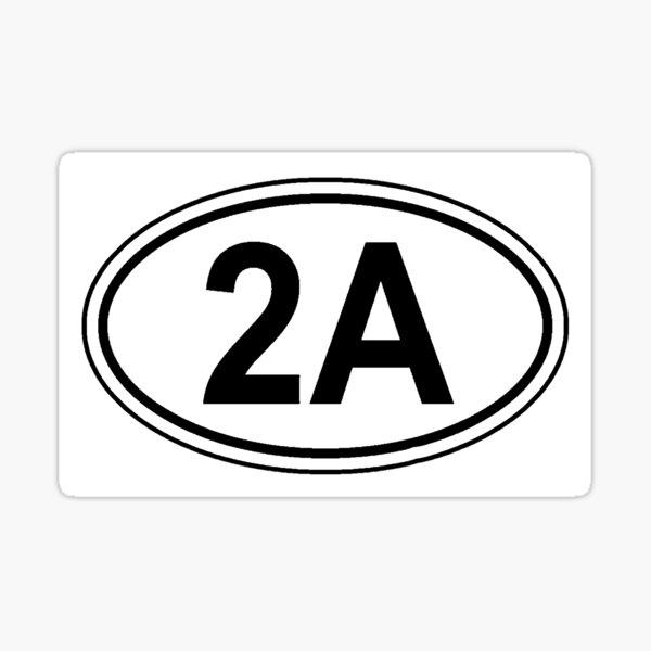 2nd Amendment 2A Oval Logo Sticker