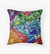 Amazing colourful doodle design!  Throw Pillow