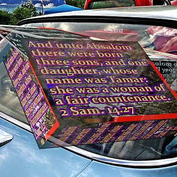 Old car window with 3D text boxes by KFRose