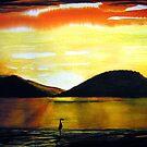 Golden Sunset - Seascape by Linda Callaghan
