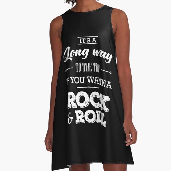 AC DC Quote A-Line Dress