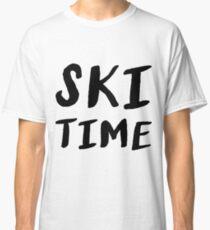 Ski ski instructor ski jumping biathlon gift Classic T-Shirt