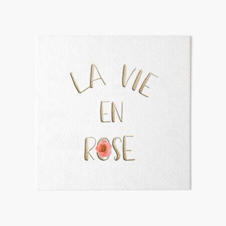 La vie en rose Art Board Print