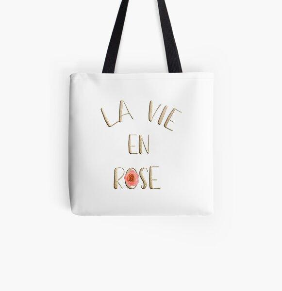 La vie en rose All Over Print Tote Bag