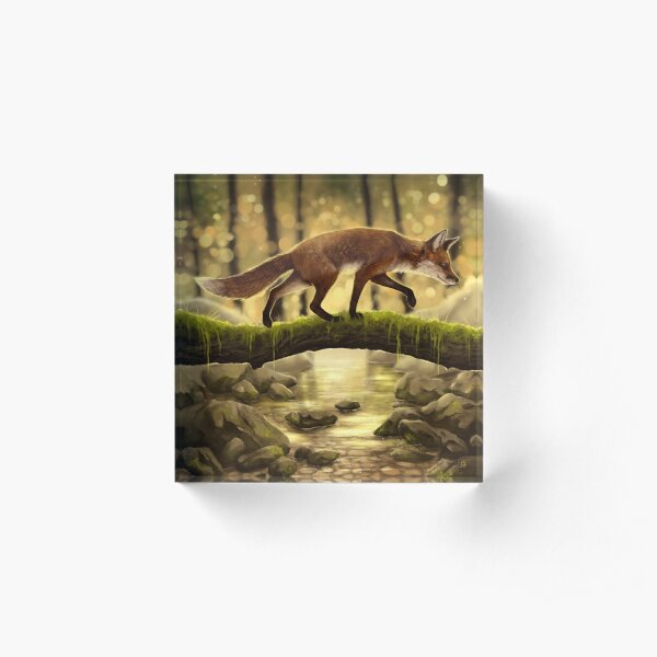 Fox Stroll Acrylic Block