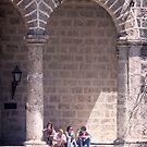 South Wall of the Plaza de la Catedral in Old Havana by Yukondick