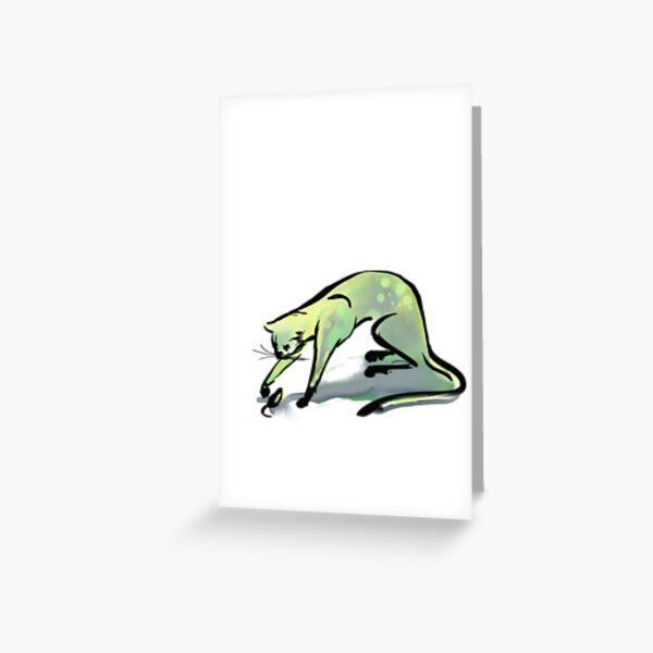 Simple Cat and Mouse Greeting Card