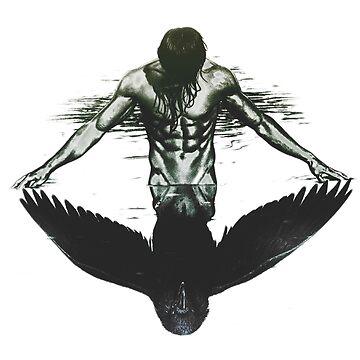 Raven vs Man by rott515