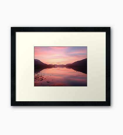 Sunset From Ballachulish Framed Print