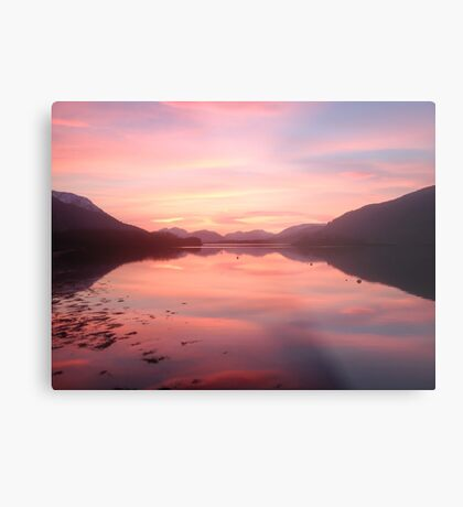 Sunset From Ballachulish Metal Print
