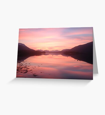 Sunset From Ballachulish Greeting Card