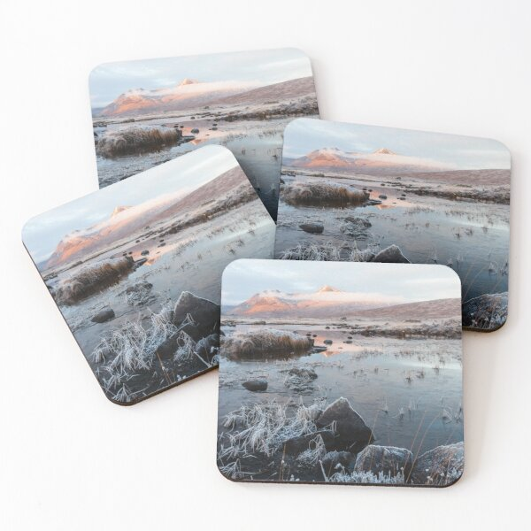 Icy Black Mount Coasters (Set of 4)