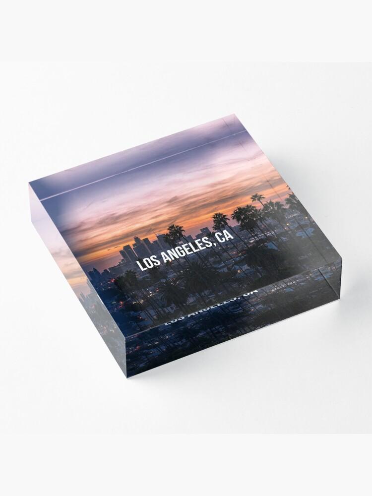 Alternate view of Los Angeles California Acrylic Block