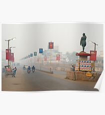 Misty Morning at Dhanbad Poster