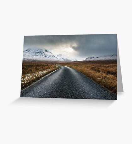 The Road To Glen Etive Greeting Card