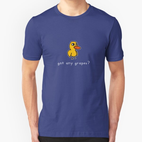 got any grapes? (alt. for dark colored materials) Slim Fit T-Shirt