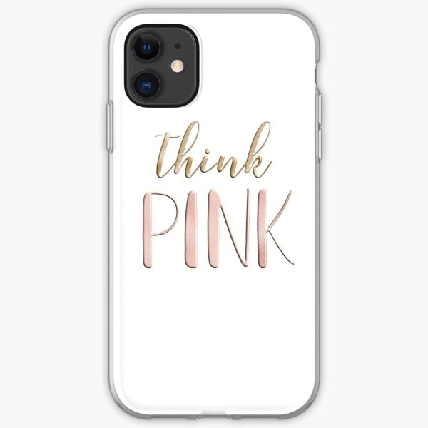 Think pink iPhone Soft Case
