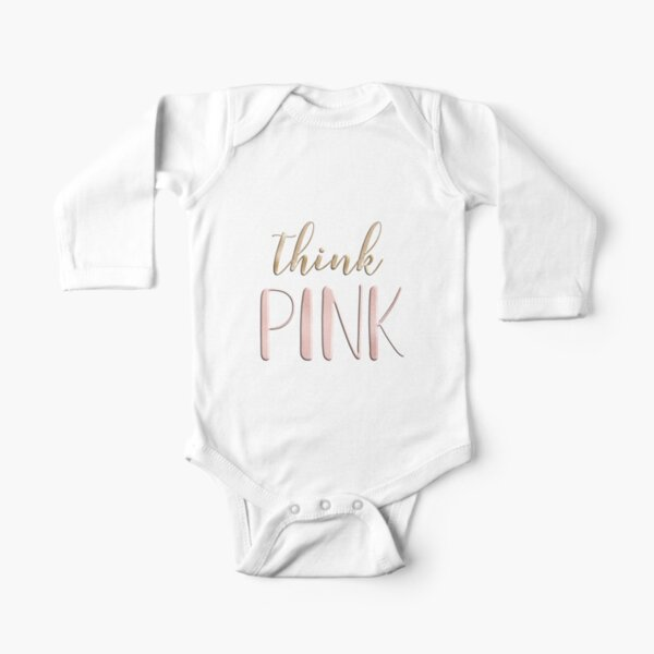 Think pink Long Sleeve Baby One-Piece