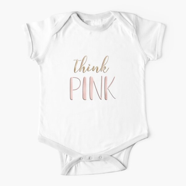 Think pink Short Sleeve Baby One-Piece