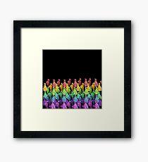 Rainbow meerkats Framed Print