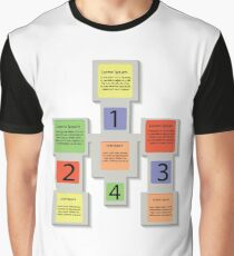 abstract square info graphic business elements Graphic T-Shirt