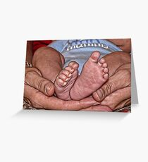 Small Feet Greeting Card
