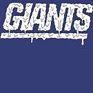 New York Giants Drippps by Ryanopena