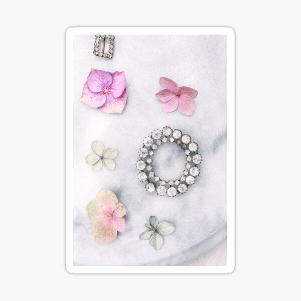 Petals and vintage sparkles 2 Sticker