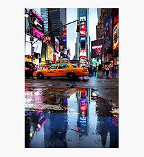 Times Square Puddle Photographic Print