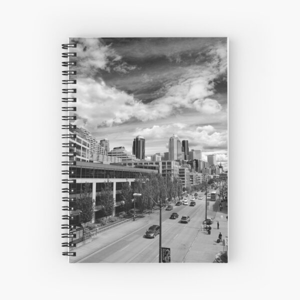 DownTown Seattle on a Bright and Sunny Day Spiral Notebook
