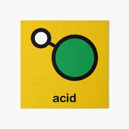 Hydrogen chloride acid molecule Art Board Print