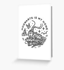 Hogwarts quote Greeting Card